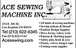 --ACE SEWING MACHINE--