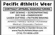 -- PACIFIC ATHLETIC WEAR --