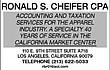 -RONALD S. CHEIFER, CPA-------