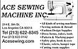 -ACE SEWING MACHINE INC.--==