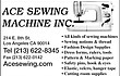 -ACE SEWING MACHINE-------