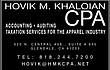 -HOVIK M. KHALOIAN, CPA-------