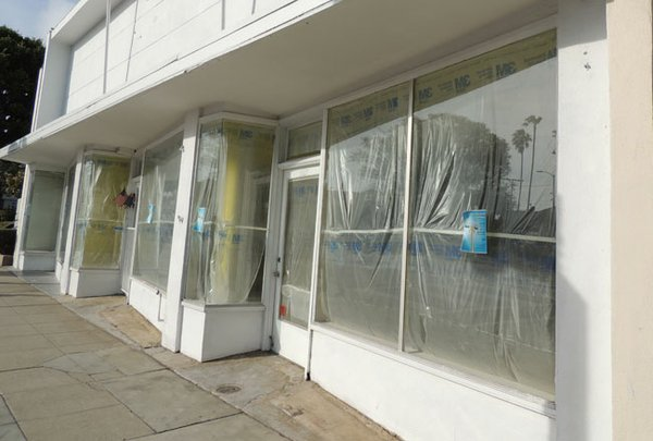 PALISADES VACANCY: Caruso Affiliated will develop retail on Swarthmore Avenue in Los Angeles' ritzy Pacific Palisades neighborhood. The 2.77-acre district features empty storefronts such as the one pictured above.