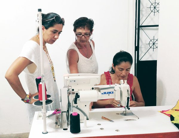 Quality Skills Center in Higuera Blanca, Mexico, trains apparel workers through a paid apprenticeship program, then hires the workers to produce apparel made from traditional Guatemalan- and Mexican-made textiles.