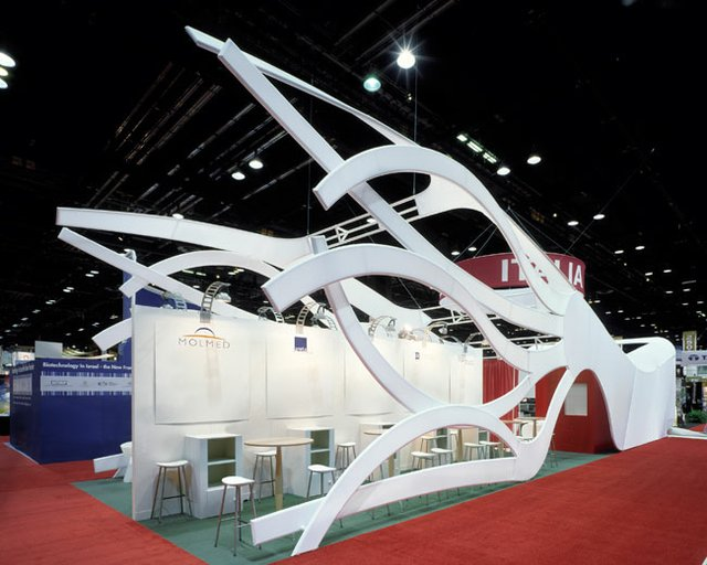 FLEXIBLE: Borruso's booth at the 2006 BIO Exhibition was inspired by the multi-faceted creature the chimera.