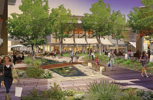 GARDEN PLANS: Westfield unveiled its garden-like design for its upcoming The Village development. Rendering courtesy of Westfield.