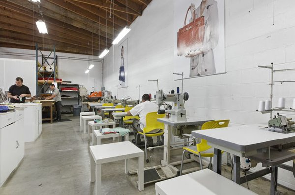 WORK STATION:  Sewing station at Onna Ehrlich facility in Inglewood. Image courtesy of Onna Ehrlich.