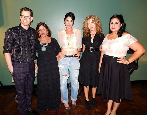 THE VINTAGE EXPERTS: Kevin Jones, left, a FIDM curator, was the panel's  moderator. Next to him is Doris Raymond as well as Madeline Harmon, Shareen Mitchell and Alicia Estrada.