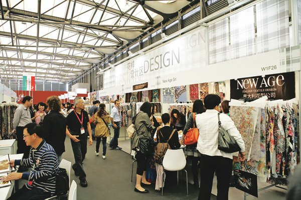 The Verve for Design pavilion at last year's Intertextile Shanghai show.