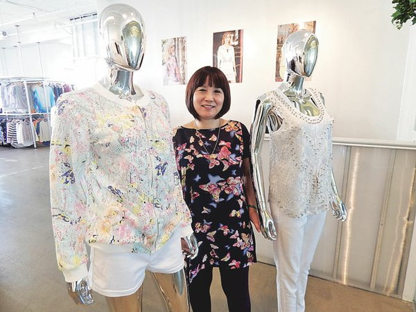 WONDER WOMAN: Lillian Hsu started her first clothing line in 1990, and now she has four labels and a factory in China.