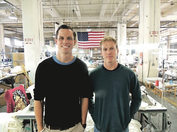 GROCERY MEN: Matthew Boelk, left, and Robert Lohman at their factory in downtown Los Angeles