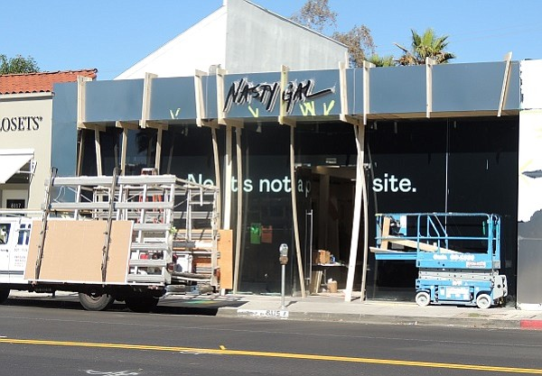 The first Nasty Gal store is currently under construction on Melrose Avenue.