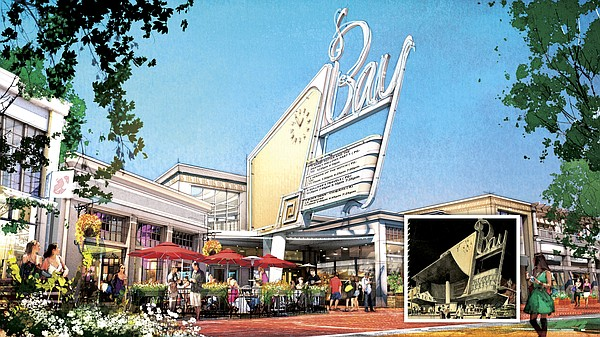 BRING BACK BAY: The Bay Theater has not screened films in Pacific Palisades for decades, but Caruso Affiliated planned to rebuild the cinema, a rendering is above, if its Palisades Village development is approved by Los Angeles City Council. Rendering courtesy of Caruso Affiliated.