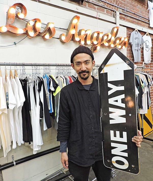 POPMAN: Ricky Takizawa at his downtown Los Angeles showroom