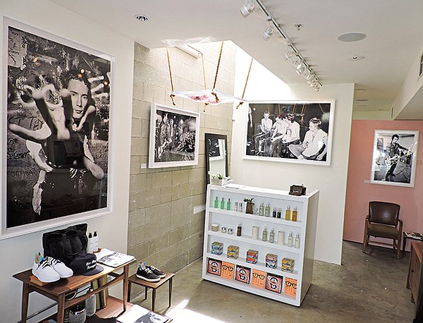Venice Heights' interior currently features photo portraits of the Sex Pistols taken by Dennis Morris.
