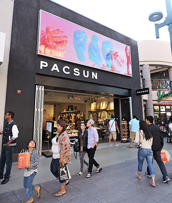 The Pacific Sunwear at Santa Monica's Third Street Promenade recently introduced a redesign, which features no windows and no front entryway. Gary Schoenfeld, PacSun's CEO, said the new store look has increased consumer traffic to the store.
