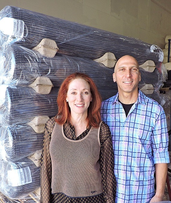 LA HQ: Lauren and Steve Greenberg, pictured in their Los Angeles headquarters, devised a compact