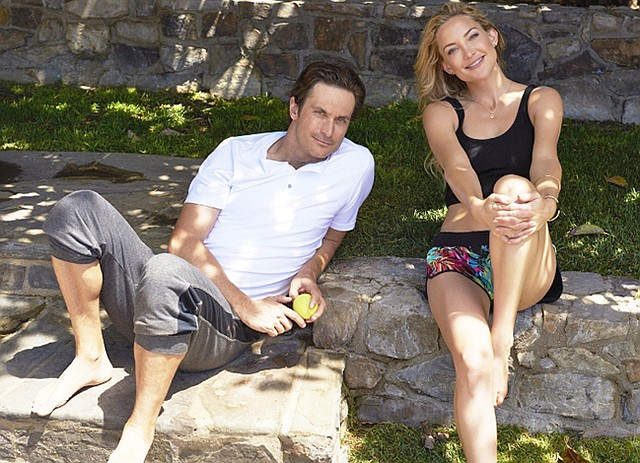 SIBLING RIVALRY: Oliver Hudson (left) is the brother of Kate Hudson (right) and the official spokesman for FL2.