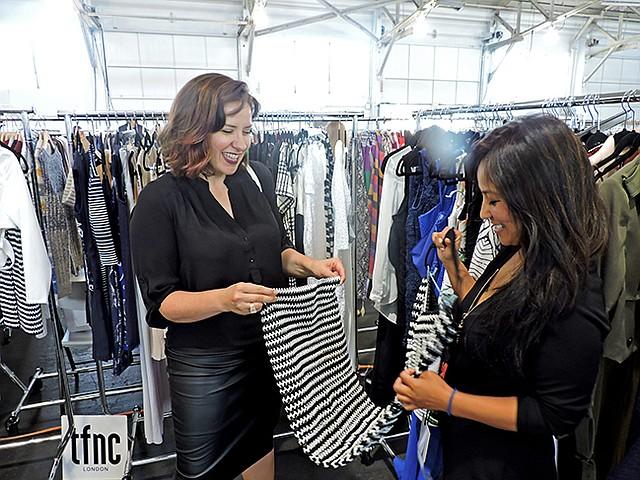 Angelina Haole, a retailer, pictured left, with Vishaka Lama of ShowroomFive21.