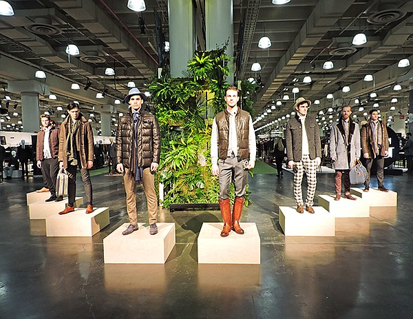 LIVE-ACTION FASHION: MRket producers presented a series of fashion installations during the New York show featuring the new Barbour collection and a selection of brands from the show's Made in Italy section (pictured above).