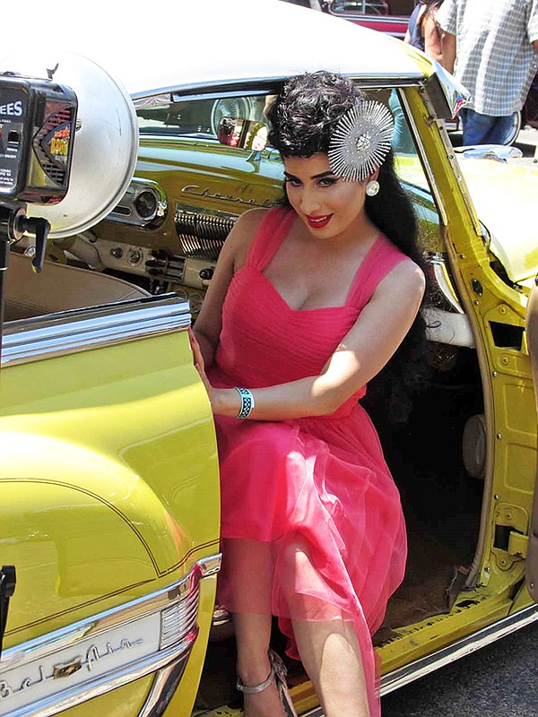 Lowriders And Pin Ups At L A Classic Car Show California