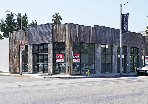 NEW SITE: A building on the 8300 block of Melrose Avenue in West Hollywood will be a center of new retail on the block.