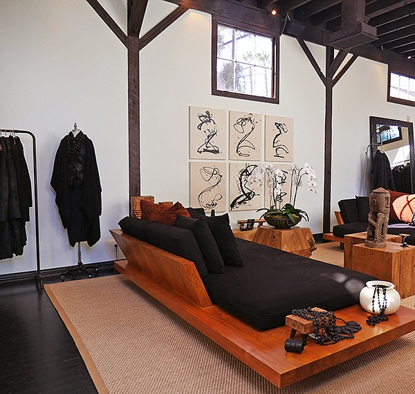 Zen furniture design Living Room Donnas Store Entrance To The Store Interior California Apparel News Karans Urban Zen To West Hollywood California Apparel News