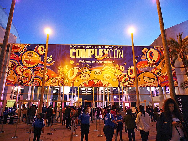 The entrance of ComplexCon featured Takashi Murakami graphics.