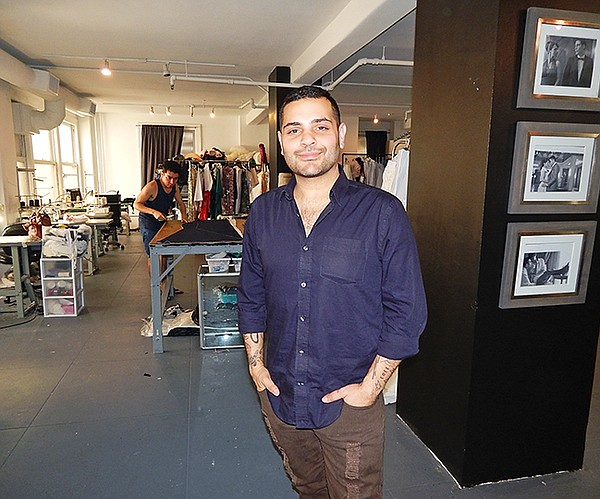 DESIGNING MAN: Michael Costello inside his downtown LA studio