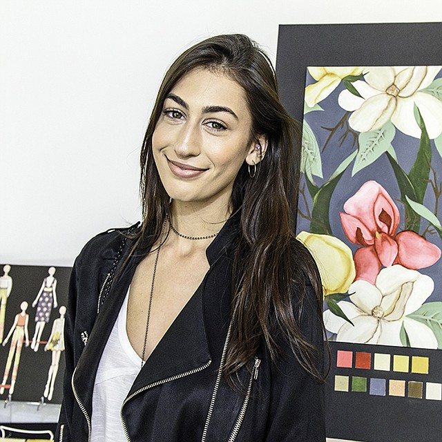 Hank Pola Scholarship recipient and FIDM textile design student Megan Weitz