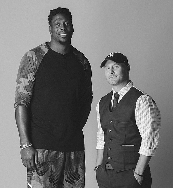 FROM A NIFTY WORLD: Jared Cook, left, and James Costa   Photo by Naskademini