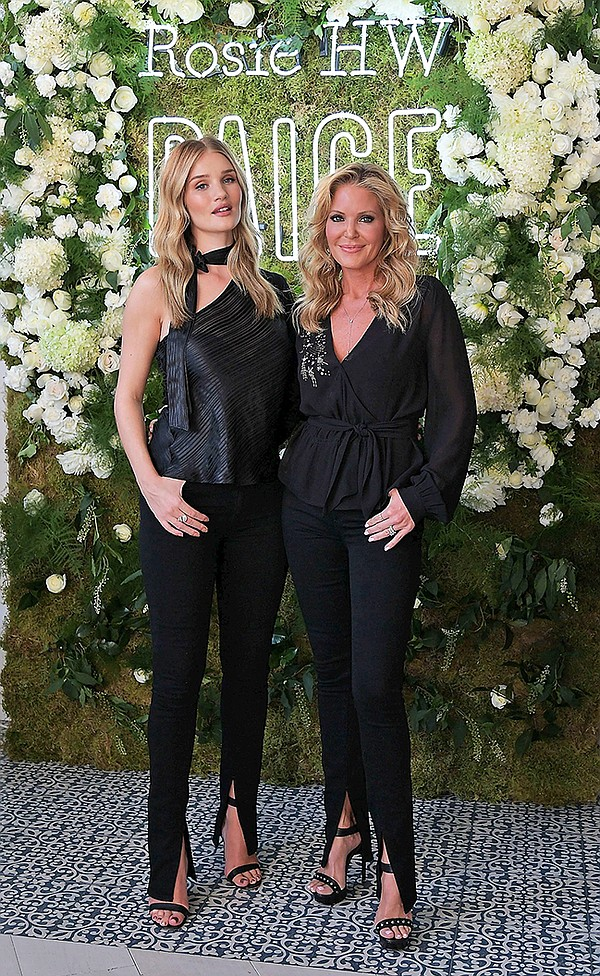 Rosie Huntington-Whiteley  with Paige Adams-Geller | Photo by Charley Gallay/Getty Images
