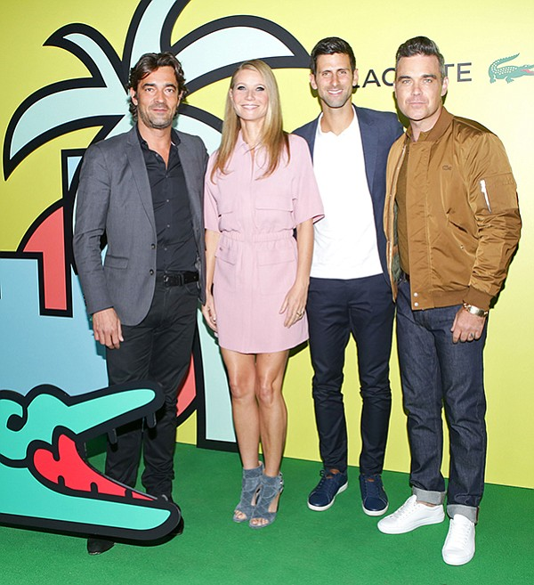 TENNIS PARTY: At a Nov. 7 party for Lacoste's upcoming Rodeo shop, Theirry Guibert, Gwyneth Paltrow, Novak Djokovic and Robbie Williams