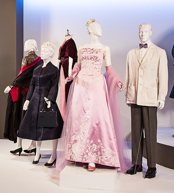 "Phantom Thread: The Fashion Institute of Design & Merchandising revealed its annual exhibit of movie costumes that include movie costume nominees up for an Academy Award. The ""Phantom Thread"" costumes seen here are one of the five up for an Oscar."