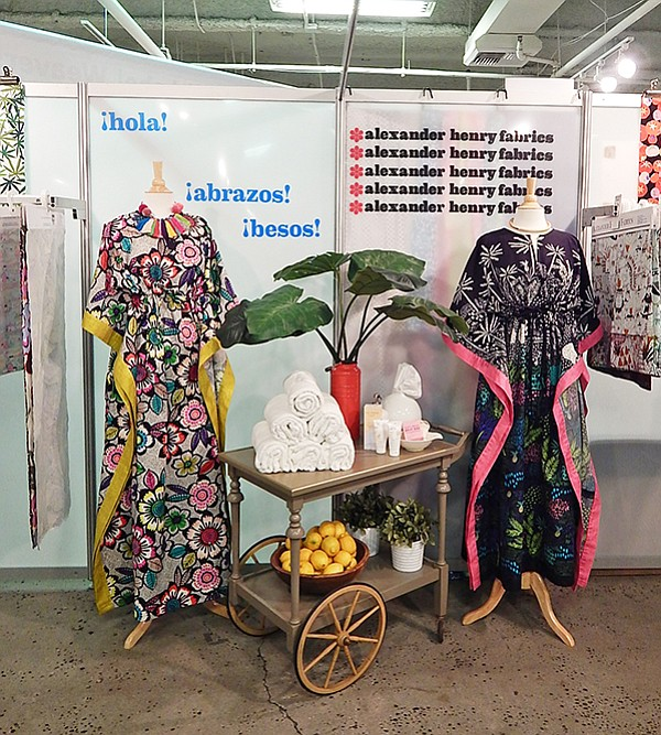 LA INTERNATIONAL TEXTILE SHOW: Vibrant colors and welcoming expressions created an inviting atmosphere within the Alexander Henry Fabrics booth at the Los Angeles International Textile Show, which took place at the California Market Center March 5–7.