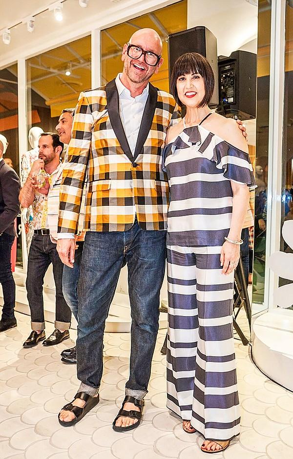 Jonathan Skow with Trina Turk