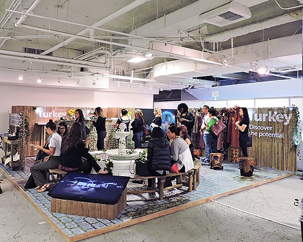 The Turkey country lounge and pavilion attracts visitors during the October 2018 edition of L.A. Textile.