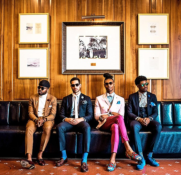 Influencers wearing Pocket Square Clothing are from left: Rome Castille, Johan Khalilian, Quentin Thrash and Donovan Briggs.