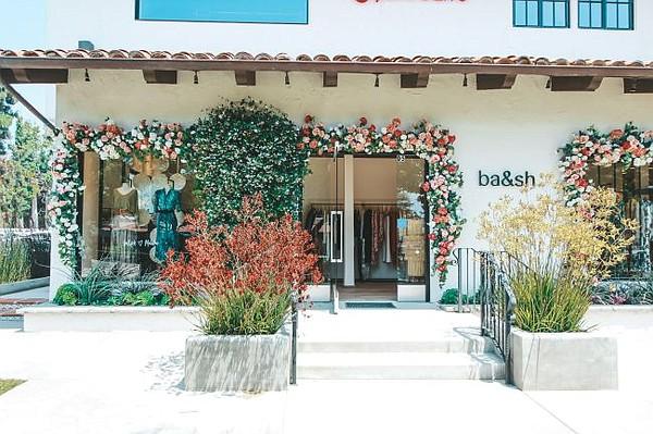 Exterior of ba&sh Malibu boutique. All photos courtesy of ba&sh