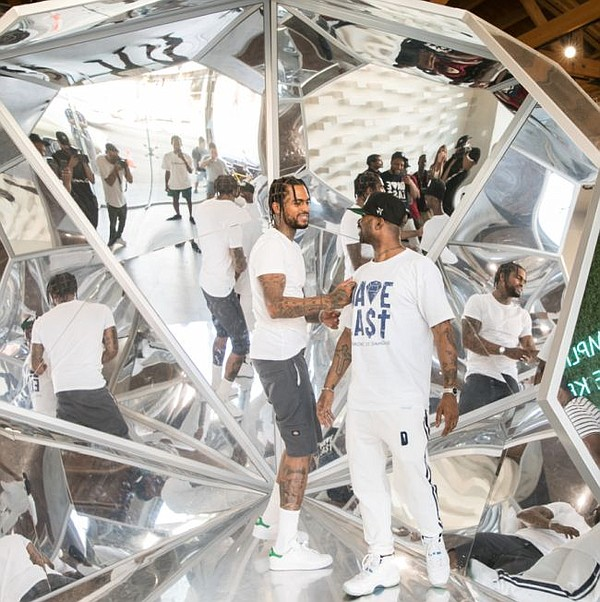 Dave East, center, at the event for his capsule collection at Diamond Supply Co. flagship July 25. All photos by Zaul Zamora. The images are courtesy of Diamond Supply Co.