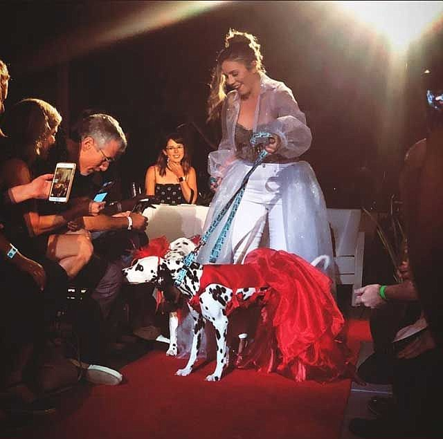 Colleen Wilson models a bridal look from designers Dustin Argumedo and Marili Ochoa. Photo courtesy of the designers.