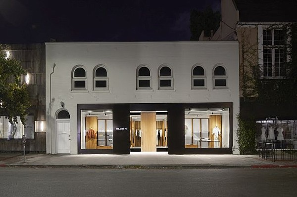 Exterior of Bldwn's Melrose Place flagship. All photos courtesy of Bldwn
