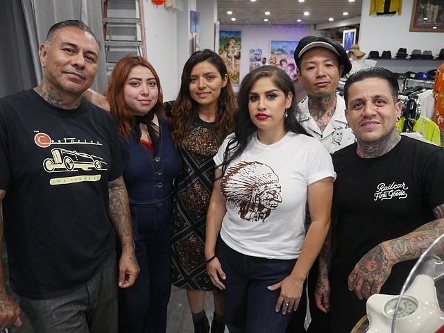From left, Zac Vargas, Ursula and Rebecca Recinos of Sister Kokomo, Rachel Tovar, Ryota Sakai and Dave Gambler