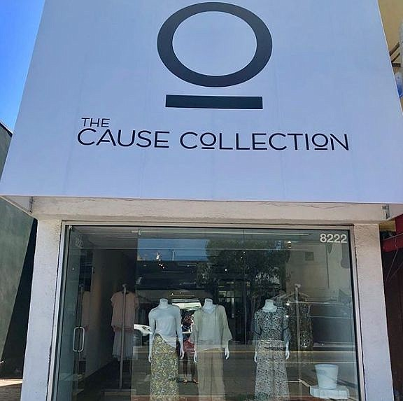 Exterior of The Cause Collection boutique. Image via Instagram profile of Cause Collection founder Cheryl Najafi