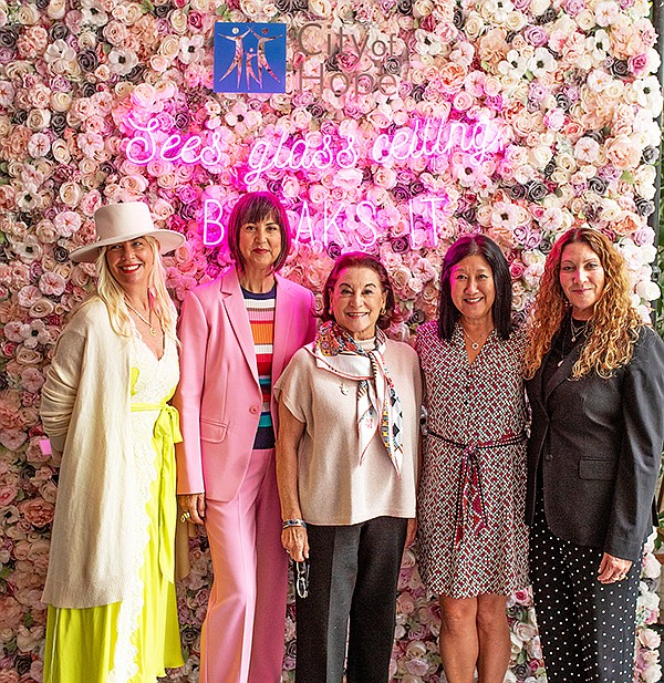 From left, Sharleen Ernster, Trina Turk, Ilse Metchek, Janet Yamamoto-Concannon and Suzanne Lerner