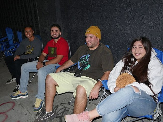 Camping by Kanye West pop-up, from left, Chris Smith, Ben Lopez, Jesse Salazar and Gabby Ayala.