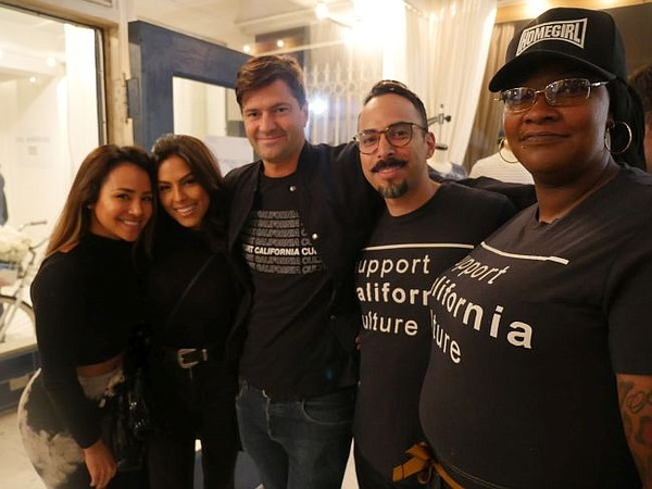 From left Nathalia Castellon, actress Danielle Lombard, Eli Myers of Sol Angeles, Jayro Sandoval of Homegirl Catering and Terron Franklin of Homegirl Catering. All pictures by Andrew Asch