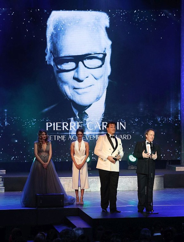 Pierre Cardin's Nephew, Rodrigo Basilicati-Cardin,  accepted a Lifetime Achievement Award on behalf of Pierre Cardin.  All photos courtesy of CinéFashion Film Awards