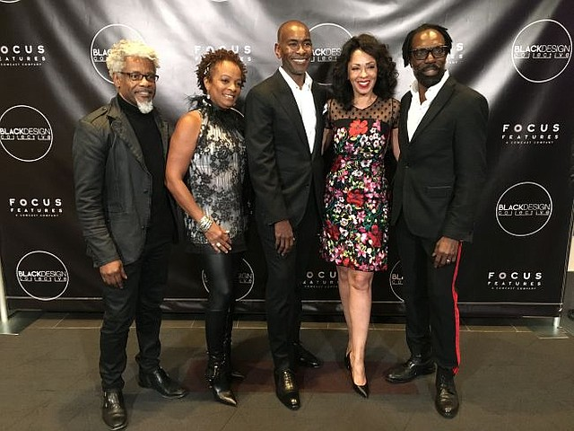 From left, TJ Walker, Vanessa Bell Callaway, Paul Tazewell, Debra Martin Chase and Kevan Hall at Black Design Collective screening for Harriet. Images by Karim Saafir Photography