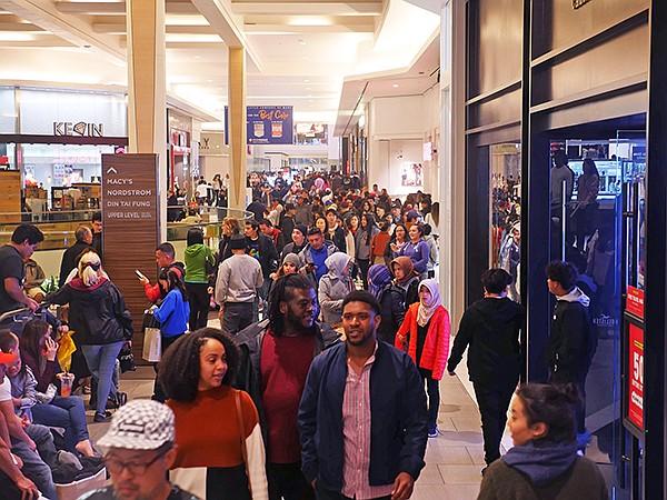 The Del Amo Fashion Center on Black Friday